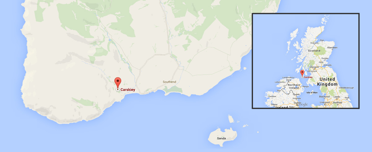 Campbeltown Scotland Map.About Carskiey House And Shore Cottage The Carskiey Estate